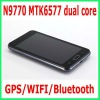 mobile N9770 MTK6577 dual core android 4.0.4 support GPS,WIFI,Bluetooth smart phone android phone