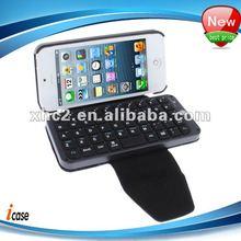 Bluetooth Keyboard Leather Case for Mini iPad / iPhone 5