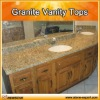 vanity stone top with wooden cabinet