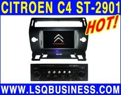 High quality LSQ Star Citroen C4 Car DVD Player with GPS BT Radio
