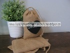 Burlap jute chic favor wedding pouch bags