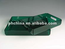 2012 Hot sale Acrylic sering tray White acrylic serving tray Acrylic serving plate