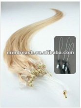 Wholesale light blonde 24# 18inch Micro Loop Ring Hair Extensions,accept paypal