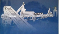PE film crushing, washing, recycling machine