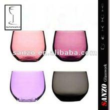 handmade colored glass tumbler set