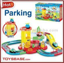 Cartoon electric rail car park sale toy trains