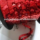 8MM glitter sequin paillette trimming string roll red color wholesale,100 yard/roll,Paypal accepted!