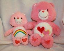 Care Bears Cheer Bear and Love a Lot Bear Stuffed Animals Plush