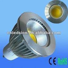 High Brightness 700lm 6W COB LED Bulb GU10 in HK Light Fair