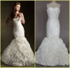Real sample mermaid wedding dress 2013