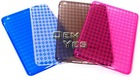 New Hot Multicolor Clear Stylish Rhombic Dimond Pattern soft tpu case cover for ipad mini