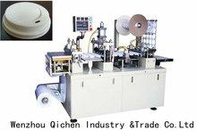 2012 automatic ruian QC350 plastic cup lid sealing machine