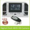 720P HD Digital Clock Camera DVR Support Night Vision + Motion Detection + Remote Control