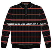 2013 mode hommes acrylique zip col montant chandail
