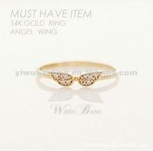 Ring flash diamond opening rings