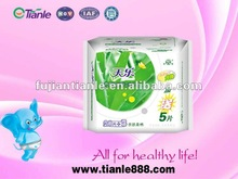 2012 Canton Fair aloe cotton&mesh surface lady sanitary pantyliner