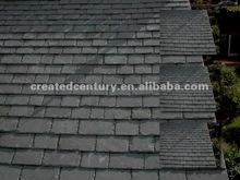 Black roof tile slate