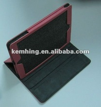 for mini iPad Ball texture leather case with 3 angle stand