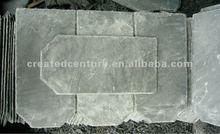 Natural green roof slate tile