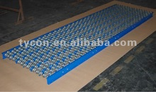 steel skate wheel conveyor, conveyor system, carton flow conveyor