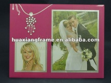 glass photo frame for picture with diamond