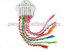 Fashion Children Curly Hair Extensions Braided Hair Extensions with beads in blue, orange, fuchsia,purple, pink,yellow