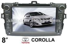 "(TOYOTA COROLLA) 8"" HD digital car DVD GPS player, with TV,radio, bluetooth"