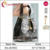 stripe silver band glitter sequin tote bag ladies handbag