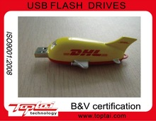 hot selling cheap promotion gift usb2.0 plastic plane/DHL flash drive usb