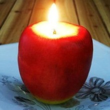 Apple candle,Christmas Eve apple gift(couple)