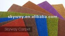Fashion colorful velour carpet underlayment 2012