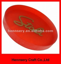 high quality anti slip large plastic round serving tray beer tray bar tray