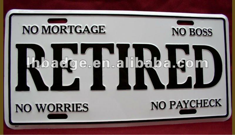 retraite cadeaux dr le en relief plaque d 39 immatriculation de voiture cadre de plaque d. Black Bedroom Furniture Sets. Home Design Ideas