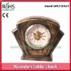 16.5x13.5cm Ancient design art wood crafts small table clock