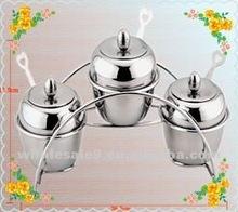 Apple shape stainless steel salt jar