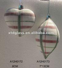 Hand made white Christmas glass ball