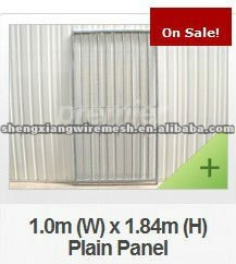 Dog Kennels/Galvanised Dog Run Panels/8cm Gap Vertical Bars