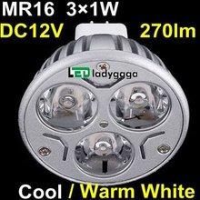 2012 cob led spotlight MR16 / gu10 DC12V/ AC85-265V SMD 3X1W 35SMD Aluminum PC E27 spots led 300lm