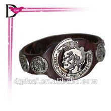 New design punk personalized rivets leather bracelet 2012