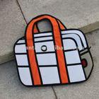 Creative canvas 2D hang bag NoteBook bag shape promotional gifts
