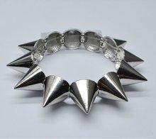 silver Rivet adorn article Lusted Chain Link Bracelet