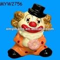 amarillo pelo ajuste bienes de porcelana de cerámica de porcelana payasos