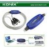 male to male usb midi cable converter