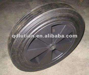 wheelbarrow solid rubber wheel, rubber solid wheel, trolley wheel