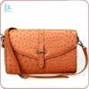Latest fashion shoulder design real ostrich leather bag
