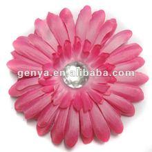 2012 fashion lady type dark pink peony Hair Flower with rhinestone