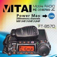 100% Original YAESU FT- 857D Ultra-Compact HF/VHF/UHF Vehicle-mounted Mobile Car Radio