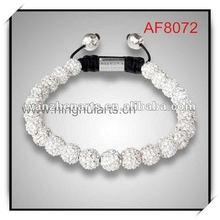 European style shamballa bracelets wholesale shamballal ball bracelet with crystals discount price AF8072G4
