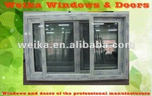 Alibaba China Supplier sliding window,pvc sliding glass window