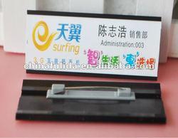magnet black plastic name tag holder